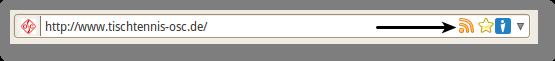 RSS-Logo in der Adresszeile von Firefox