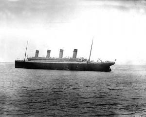 Titanic kurz vor der Katastrophe