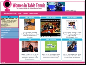 "Startseite ""Women in Table Tennis"""