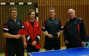 8. Herren v.l.n.r.: Julian Essig, Jonas Baars, Joachim Kruse und Mathias Eckardt (Foto: privat)