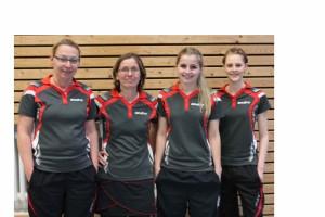 Die erfolgreichen Damen des OSC (v.l.n.r.: Elisabeth Jostes, Karen Hehnke, Julia Oldhafer (in Dissen nicht am Start) und Leonie Bülters)