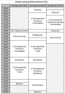 Zeitplan