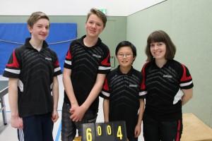 OSC I: Niklas Dohmann, Bjarne Klein und Bo Li. Trainerin Katrin Pech.