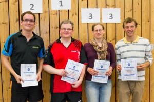 So sehen Sieger aus. Siegerhehrung der Konkurenz Erwachsene 3. Quelle: www.precontestcup.de