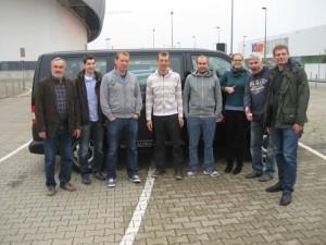 Die OSC-Reisegruppe bei der Ankunft am ISS-Dome (Foto: privat)
