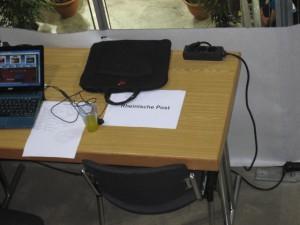 Ein eigener Berichterstatterplatz für die Rheinische Post (Foto: privat)