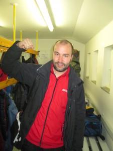 Eifriger Mannschaftskapitän und Garant für den Punktgewinn: Justus nach dem Spiel