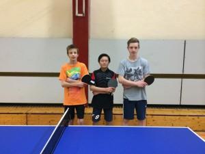 v.l. Sebastian, Bo und Niklas