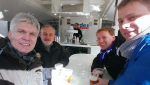 Für den OSC immer im Einsatz: Axel, Klaus, Burkhrardt und Stefan (Foto: Axel)