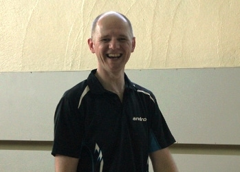 Hatte gut Lachen und war Mann des Abends beim OSC: Andreas Hakemann.