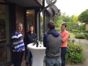 Axel, Marian, Jan-Hendrik und Florian im Expertengespräch (Foto: privat)